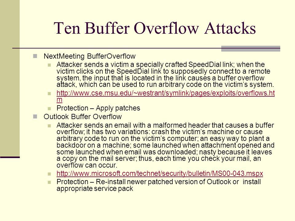 buffer overflow pdf