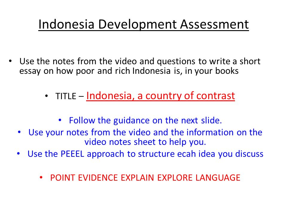 development assessment use the notes from the video and   development assessment use the notes from the video and questions to write a short essay
