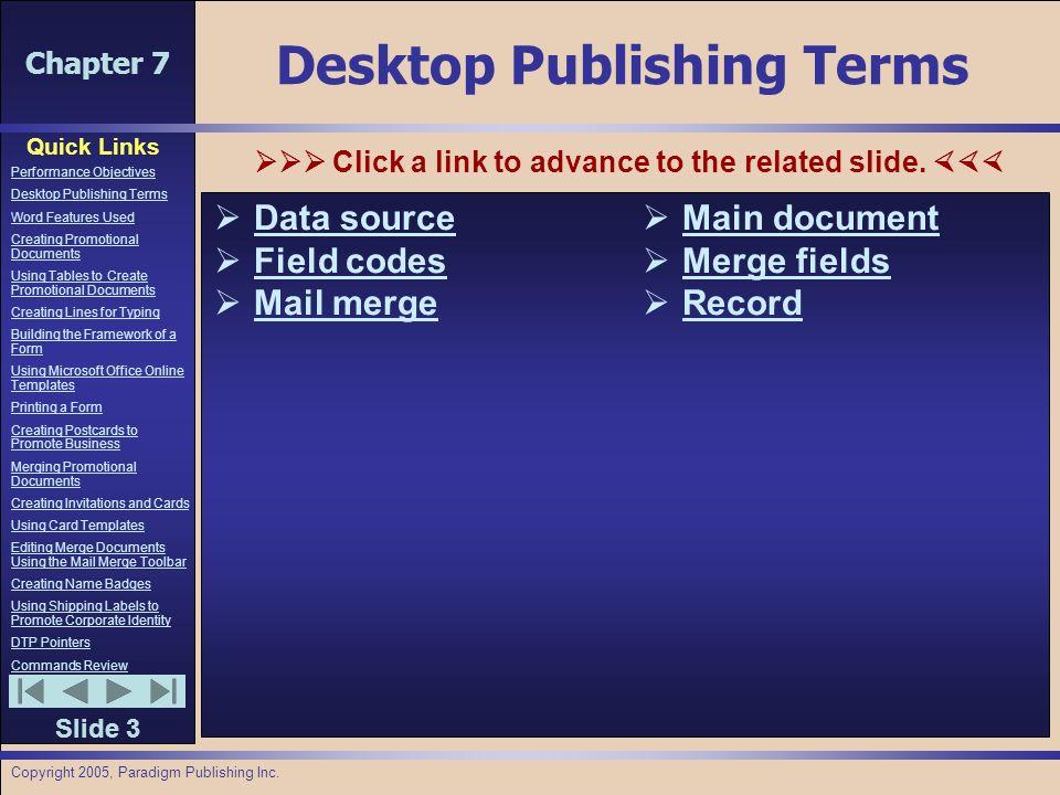 Chapter 7 quick links slide 1 performance objectives desktop 3 chapter colourmoves