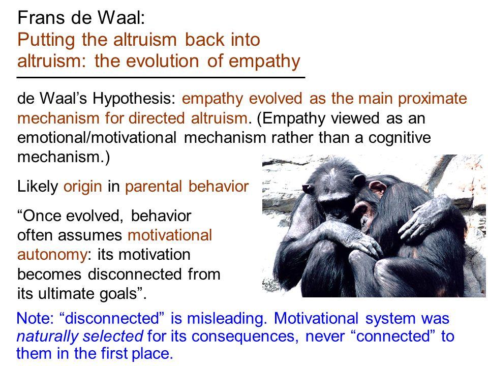 Evolution Of Empathy
