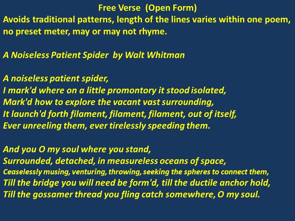 "VERSE light verse free verse ""vers libre"" blank verse formal verse ..."
