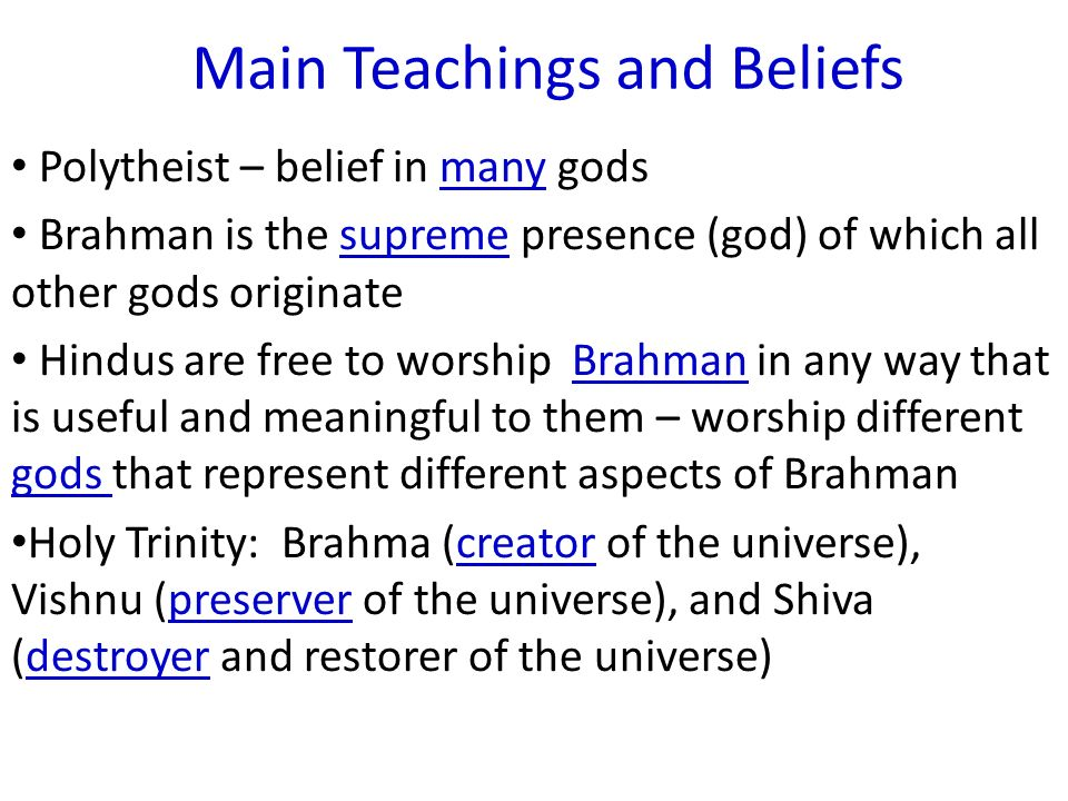 Main Teachings Of Hinduism - Lawteched