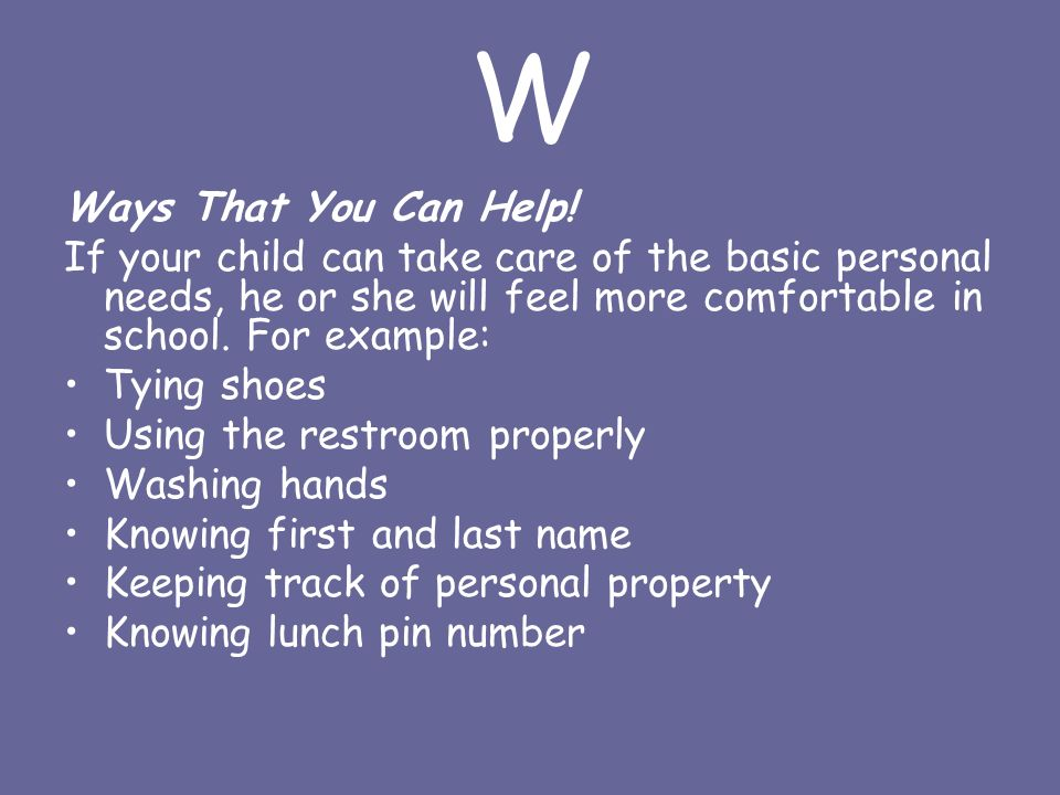 W Ways That You Can Help.