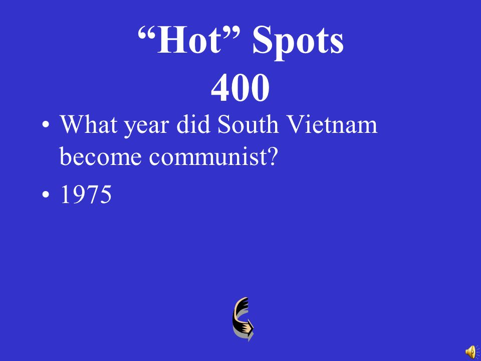 Hot Spots 300 A conflict/war in Northeastern Asia ( ) which ended in a stalemate.