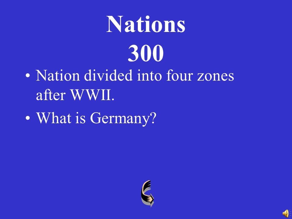 Nations 200 Most of Eastern Europe came under the control of this nation following WWII.