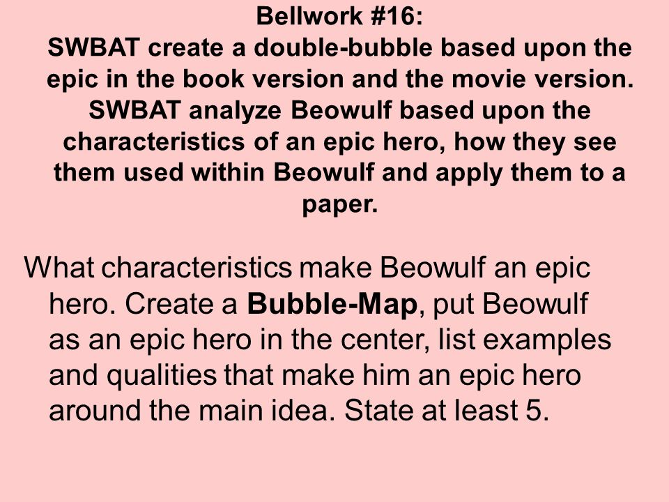 theme analysis in the epic of beowulf