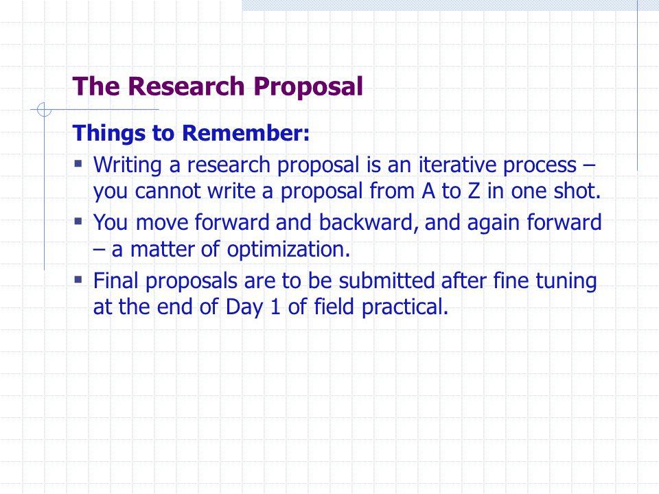 Market research proposals