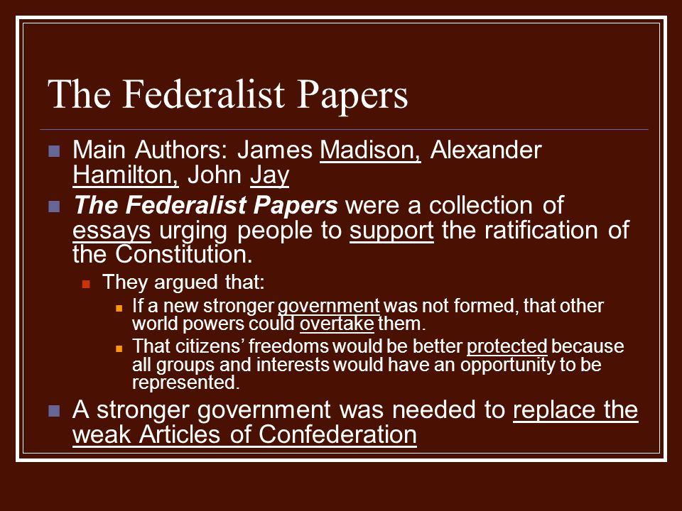 the debates about the ratification of the us constitution The debate over ratification was waged in the newspapers, through pamphlets, and on the floor of the state conventions, where the vote was often close those who favored the strong national government provided for in the constitution called themselves the federalists their opponents became the antifederalists.