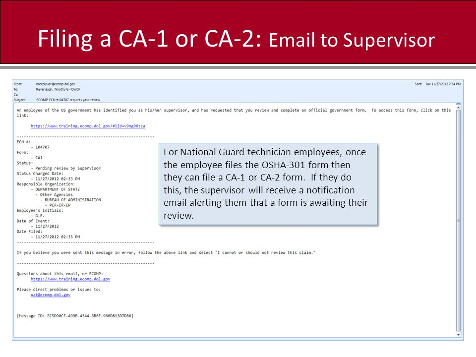 ECOMP For Supervisors. This training will provide supervisors with ...