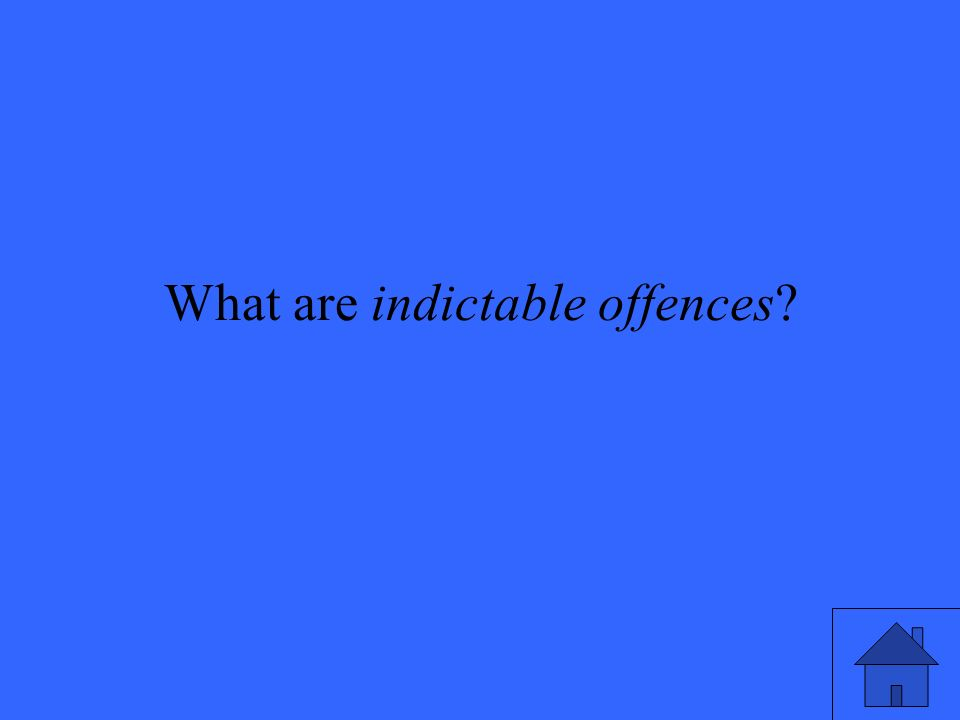What are indictable offences
