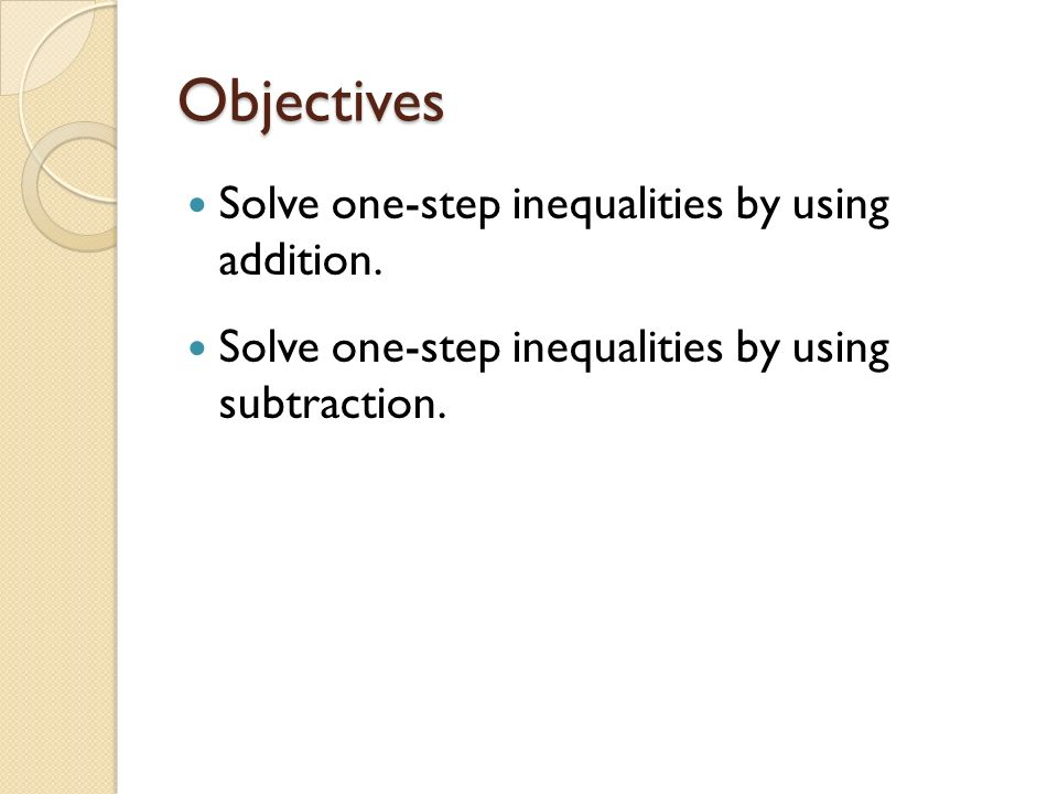 Chapter Solving two step equations Objectives Solve onestep – 2 Step Inequalities Worksheet