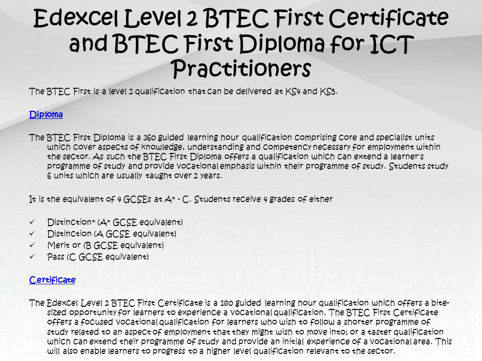 btec ict level 3