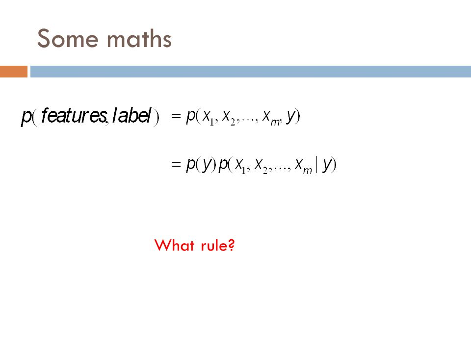 Some maths What rule