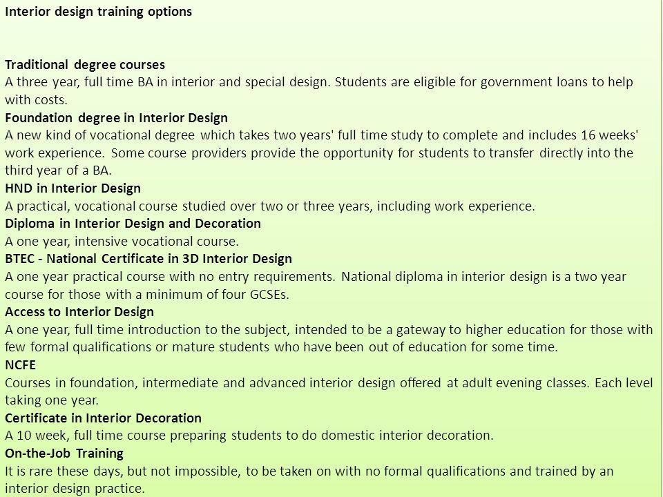 4 Interior Design Training