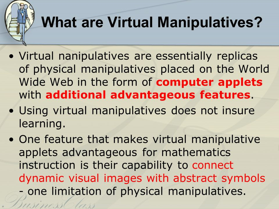 What are Virtual Manipulatives.