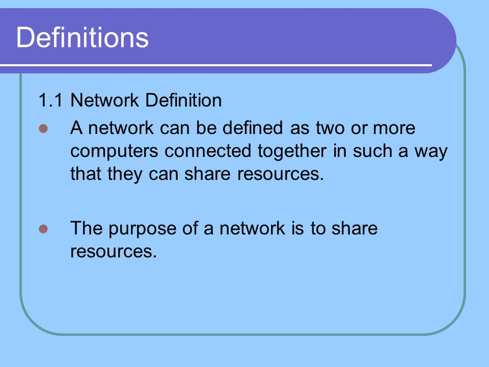 Introduction to computer networking objective to be acquainted 2 definitions sciox Image collections