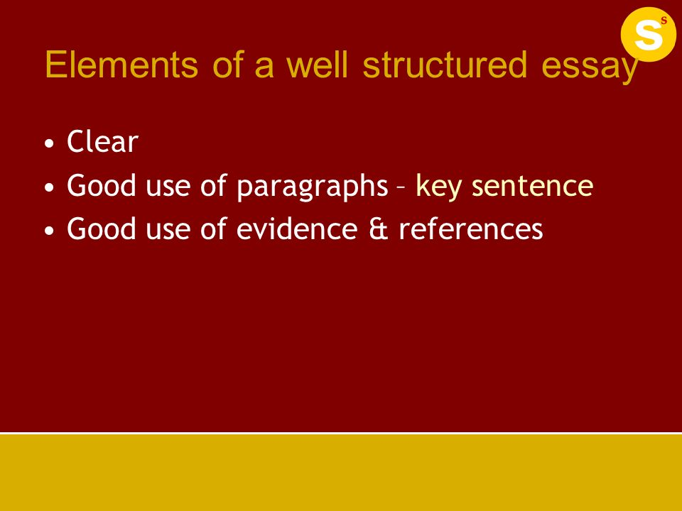 elements of a good essay in college