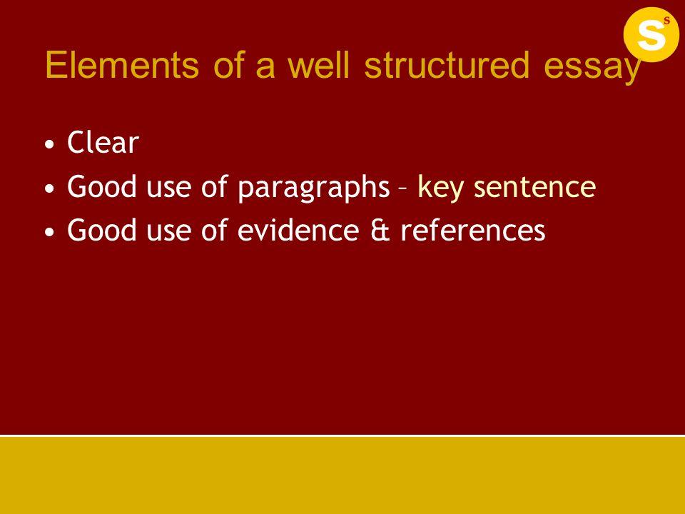 good essay elements