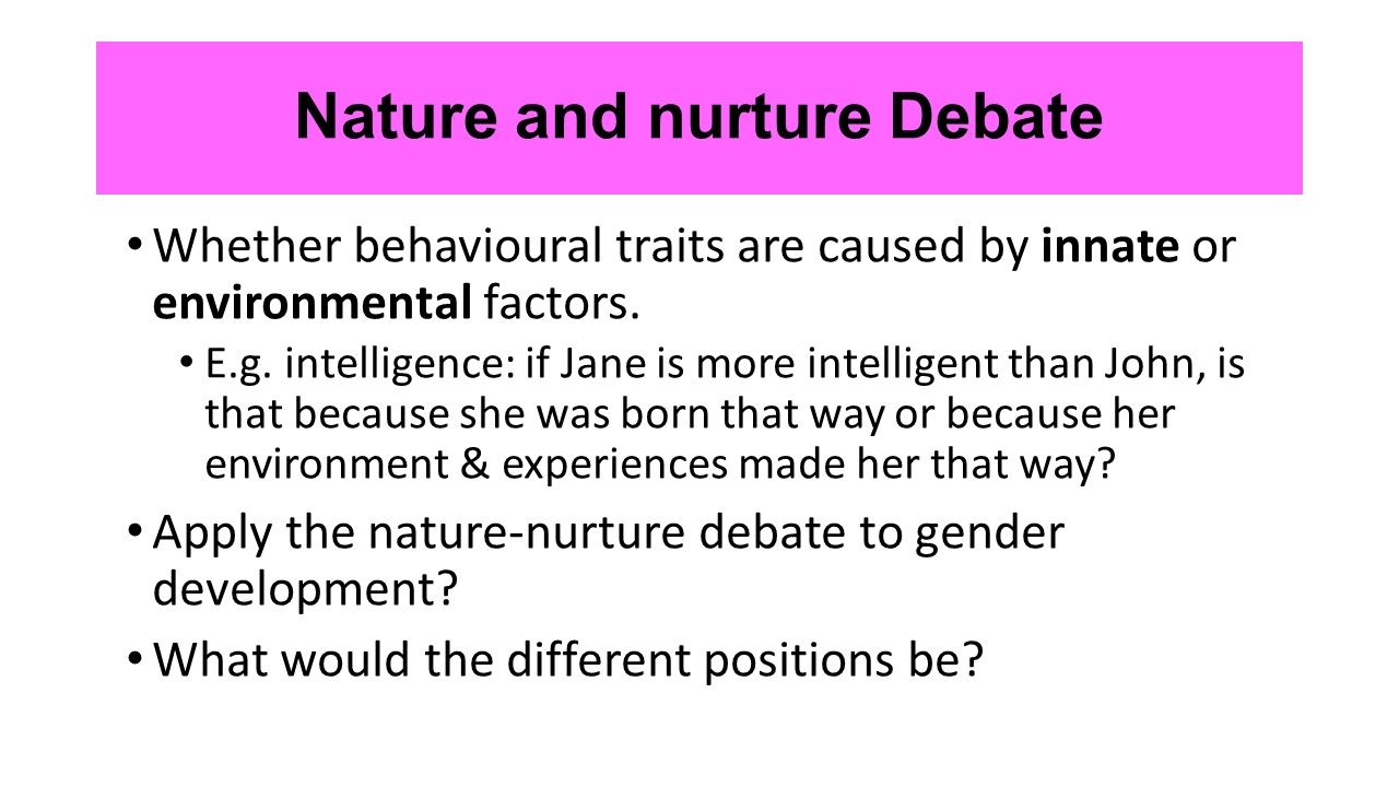 essay about nature and nurture