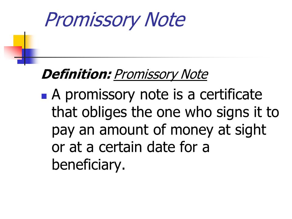 Chapter 7 Accounting for Promissory Note Ibrahim Sammour ppt – Promissory Notes