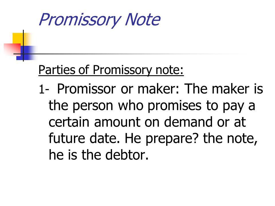 Chapter  Accounting For Promissory Note Ibrahim Sammour  Ppt Download