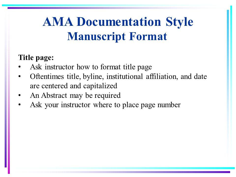 ama heading format