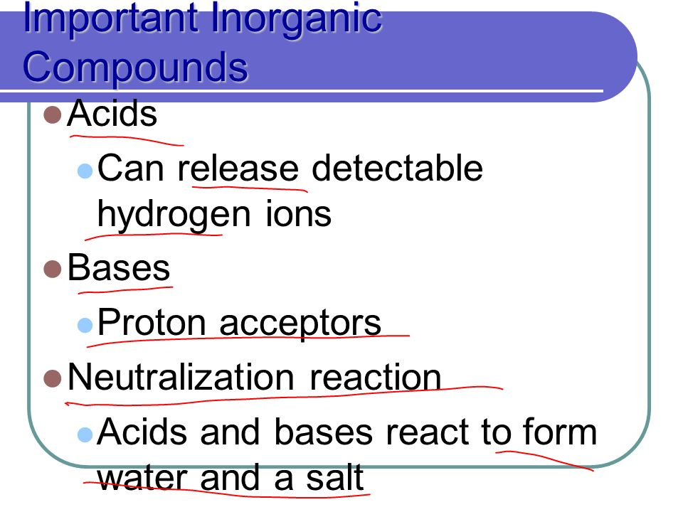 inorganic compounds: the bases for classification essay There is no perfect rule for the difference between organic and inorganic inorganic compounds most organic acids and bases are weaker than strong inorganic.