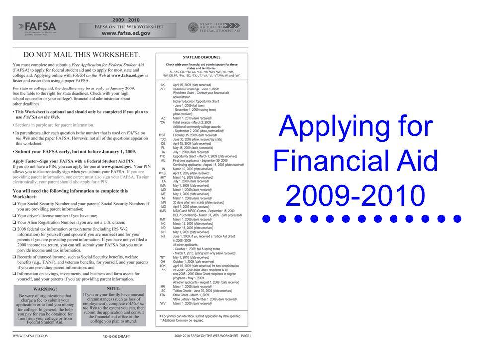 FAFSA Presentation Presented by Barb Harnish Financial Aid – Fafsa Worksheet