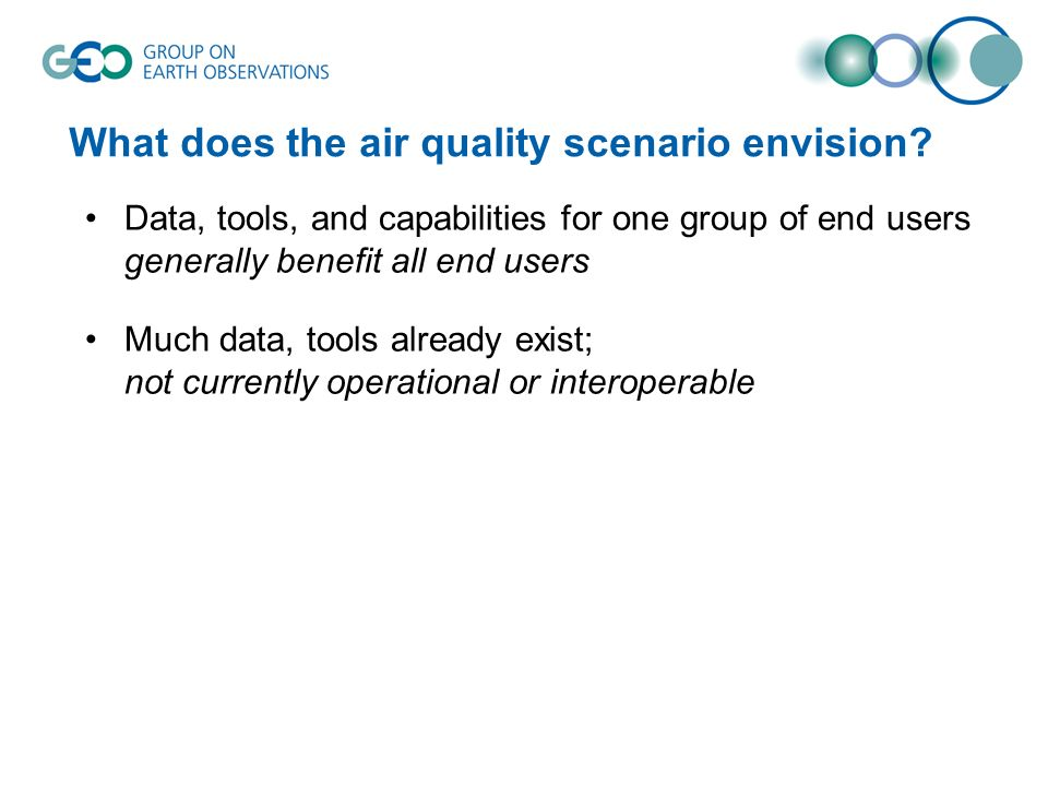 What does the air quality scenario envision.