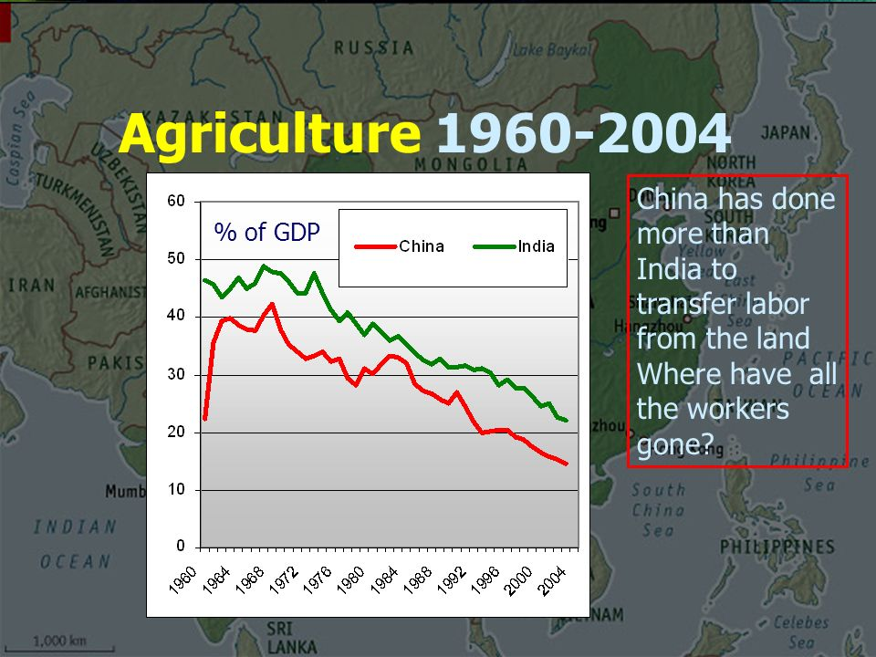 Agriculture China has done more than India to transfer labor from the land Where have all the workers gone.