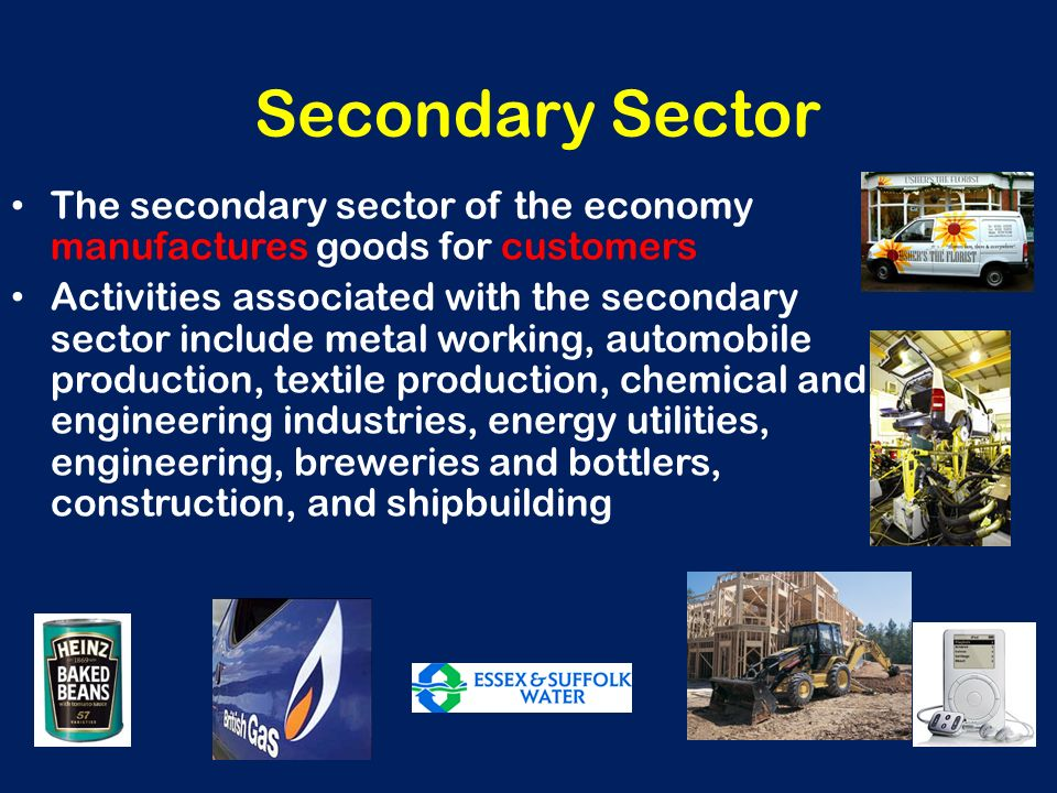 secondary sector of india