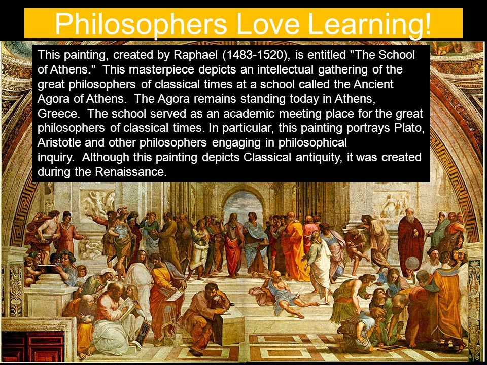 Philosophers Love Learning.