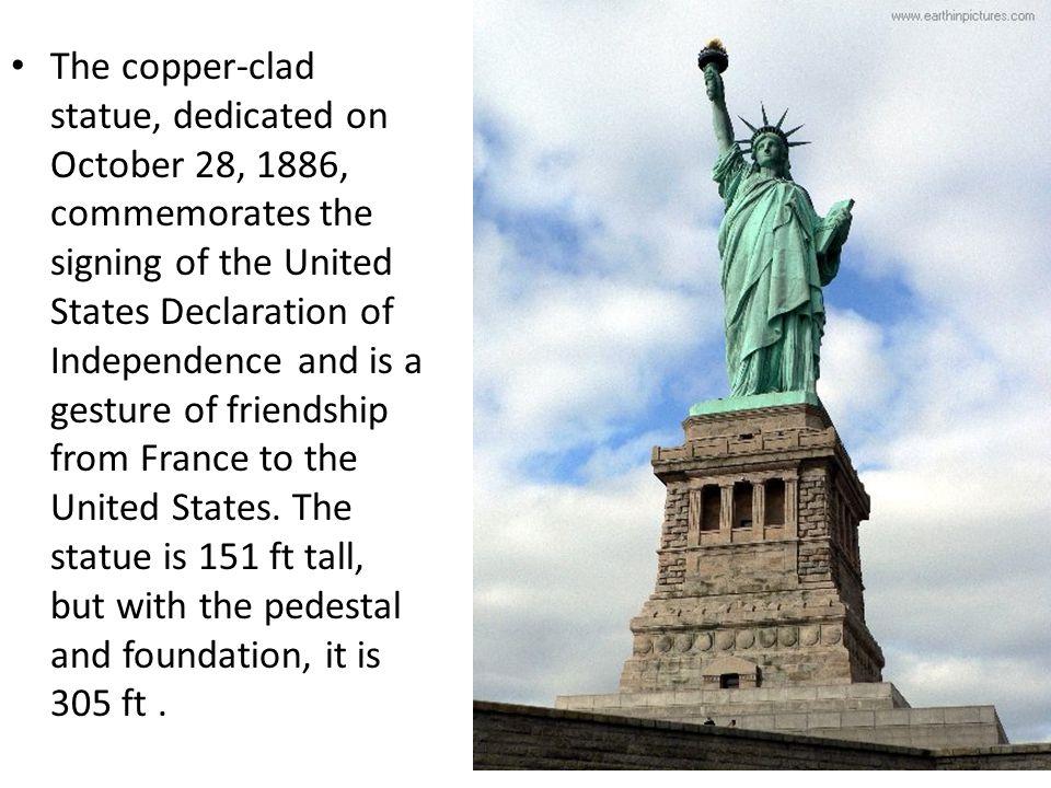 Resultado de imagen para october 28 statue of liberty