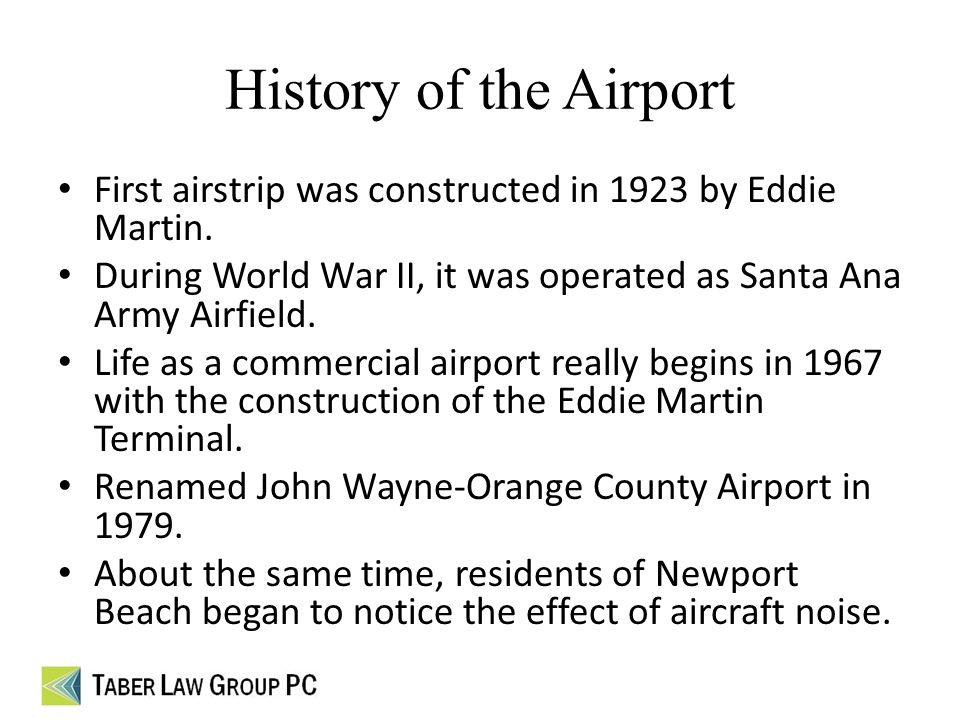 Restrictions at john wayne orange county airport and you university 2 history publicscrutiny Gallery