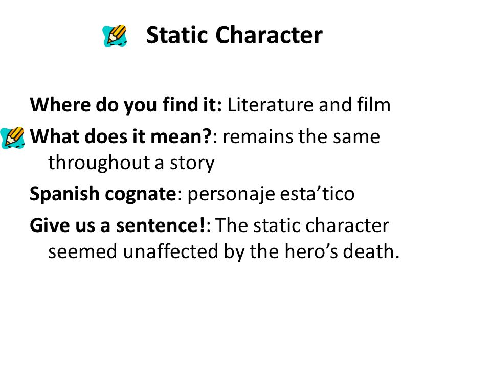 what is a static character