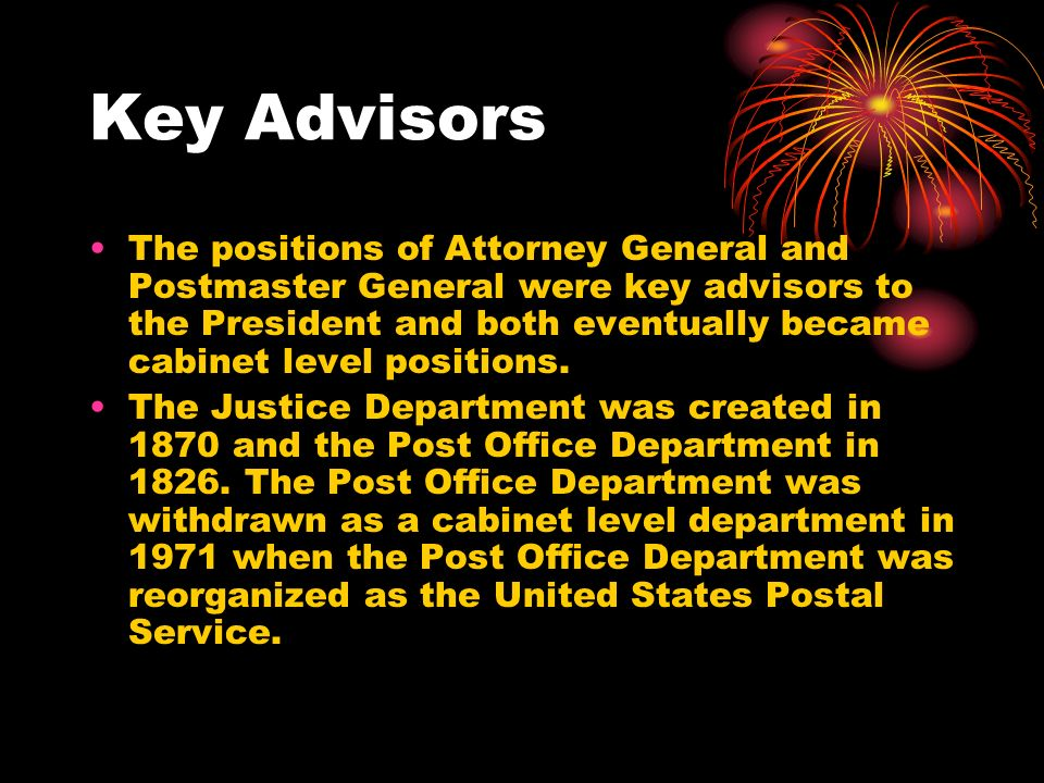 Potential Cabinet Members and Advisors Who are They? - ppt download