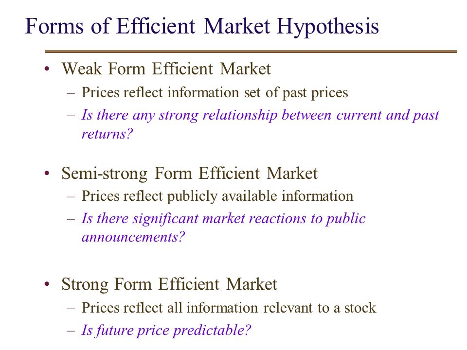 critical analysis of efficiency market hypothesis A critical evaluation of efficient market hypothesis a critical evaluation of efficient market hypothesis (1991): 'i take the market efficiency hypothesis to.