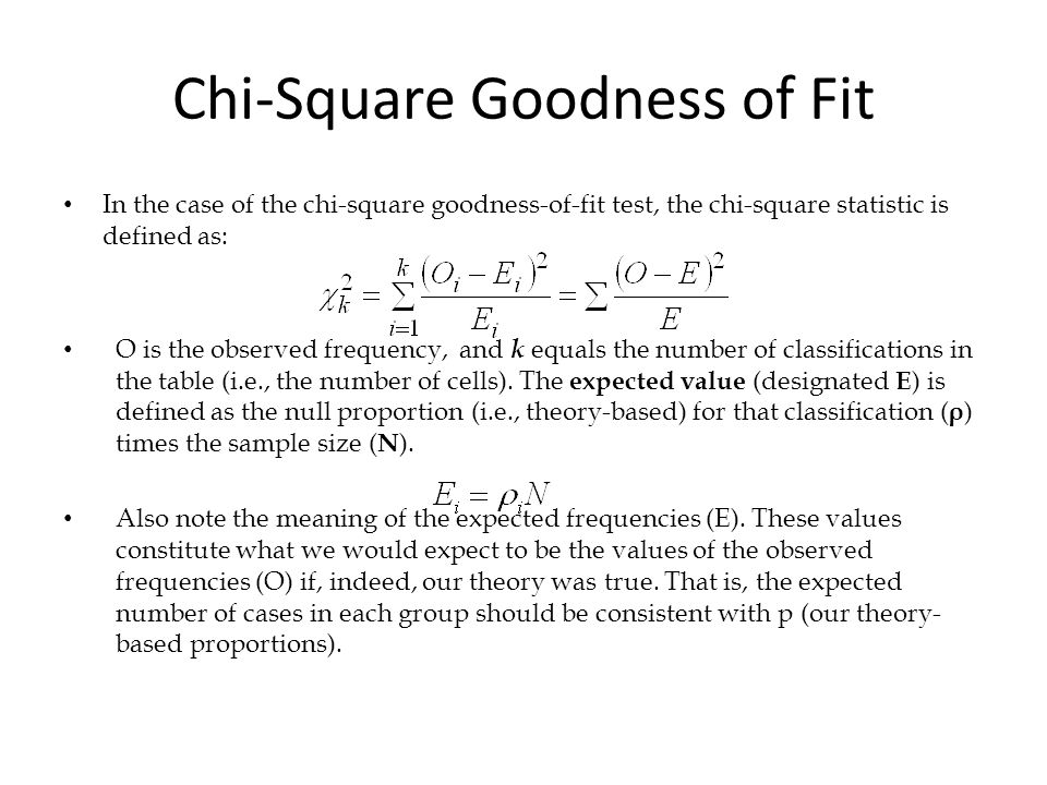 introduction to the chi square goodness of fit test Introduction thegoodnessoffit using a chi-square distribution with c – q goodness-of-fit testing 191 author's personal copy.