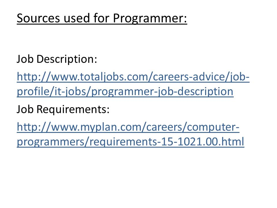 Job Description For Computer Programmer How To Write Job