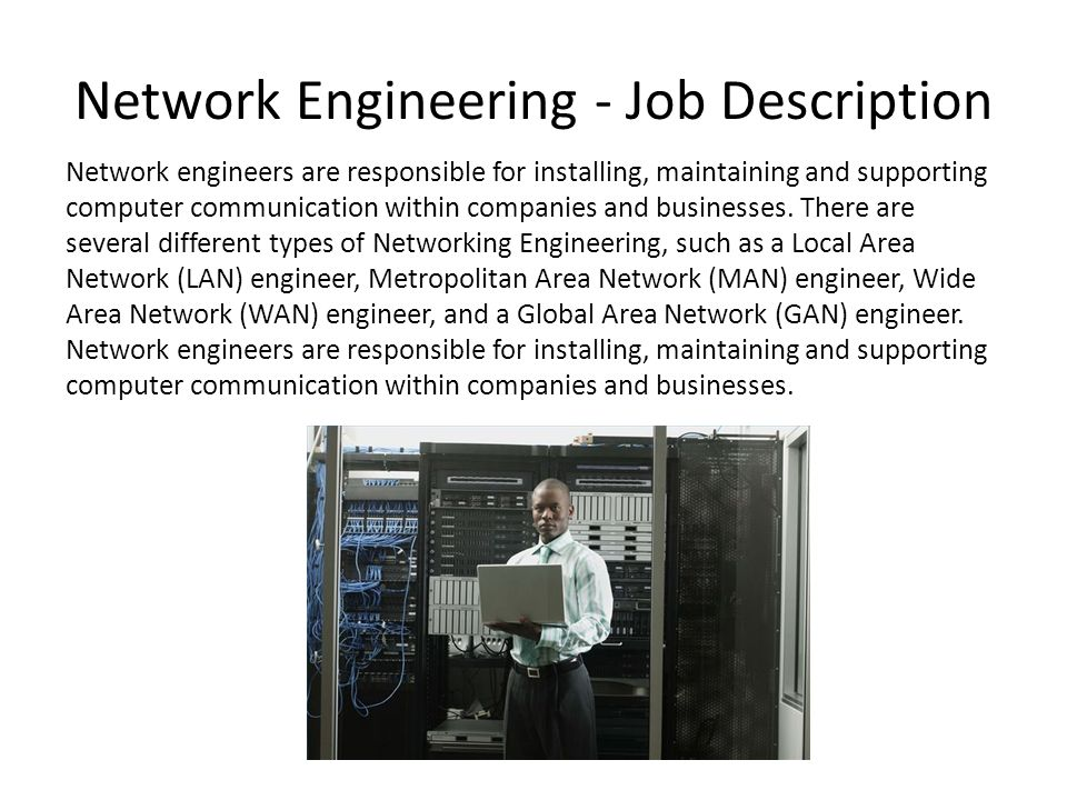 Investigating Job Roles In It Alex Haslam Network Engineering  Job