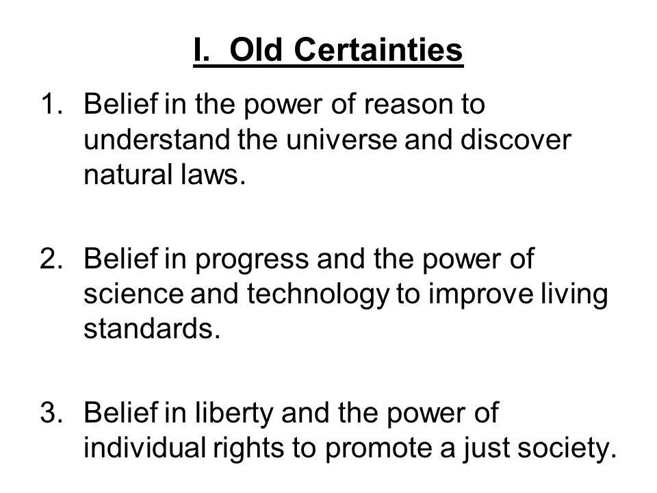 ap english certainty vs belief