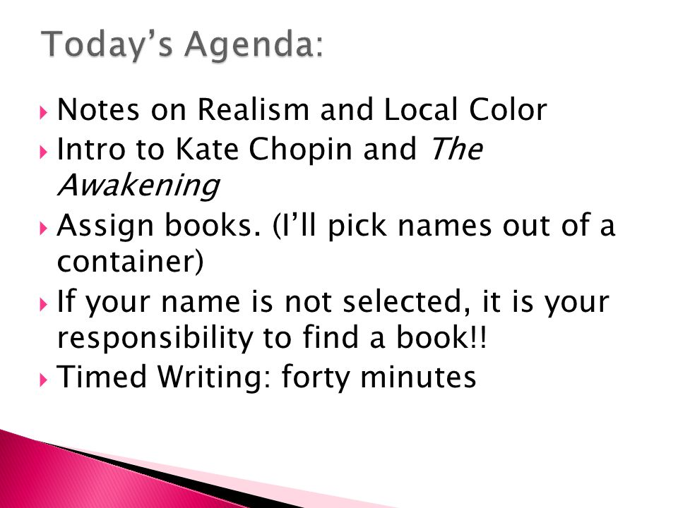 to compose an ap essay from the glass menagerie  to examine the  notes on realism and local color  intro to kate chopin and the awakening 