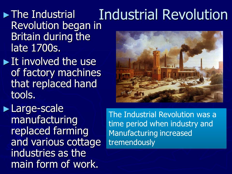 the underpinnings of the first industrial revolution in britain First central bank established in the industrial revolution in britain and southern africa events and inventions during the industrial revolution.