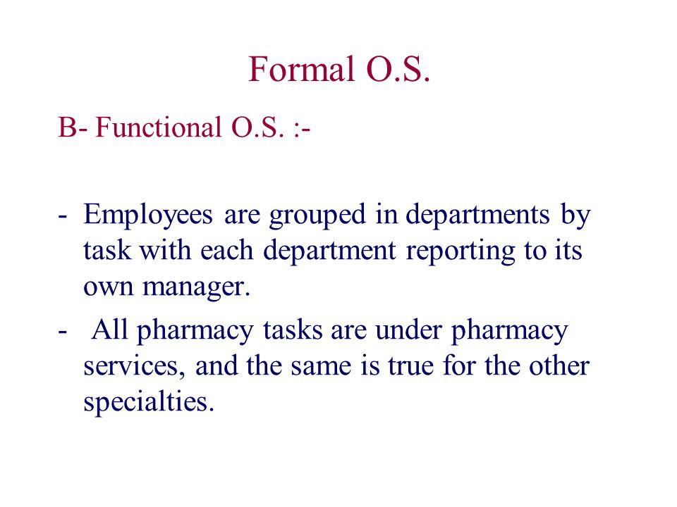 Formal O.S. B- Functional O.S.