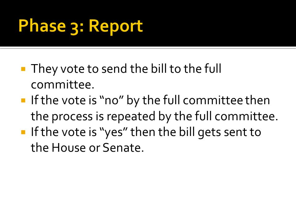  They vote to send the bill to the full committee.