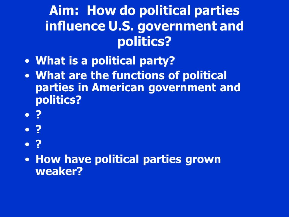 american political parties essay We now have two political parties with very what it is to be un-american political scientists have a vox blog, is a senior fellow in the political.