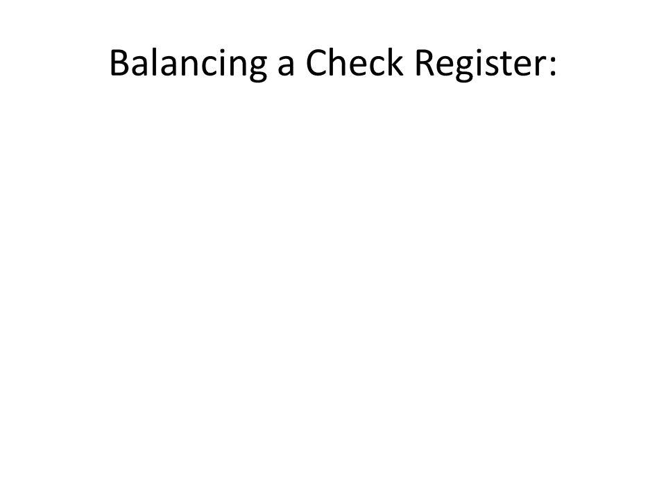 checking and balancing