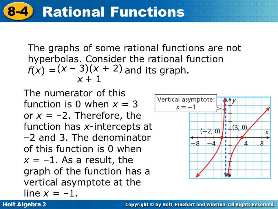 Printables Holt Algebra 2 Worksheets algebra 2 worksheet section 8 4 rational functions intrepidpath 3 and their graphs worksheets for