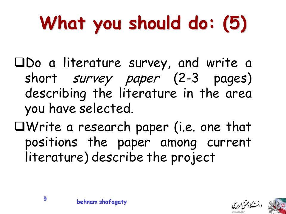 Do research paper survey