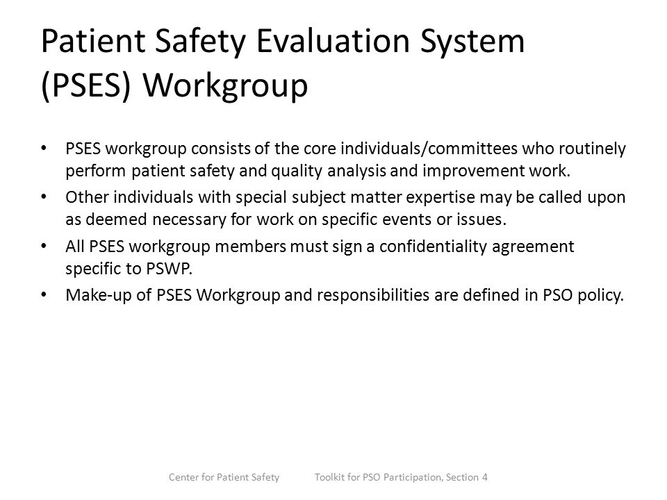Pso Overview For Executives (Presenter) (Date) Center For Patient